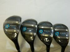 New Cobra King F8 Black Ladies Hybrid Set 4h + 5h + 6h + 7h Womens Hybrids