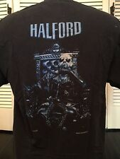 Vintage Rob Halford Metal God Tour Shirt Sz L Heavy Rock Biker 80's Judas Priest