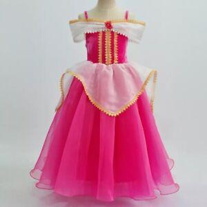 Sleeping Beauty Princess Aurora Party Dress kids Costume Dress