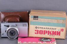 Rare Zorki-10 Vintage Collectible Ussr 35mm Camera w/ Industar-63 Lens -Full Set