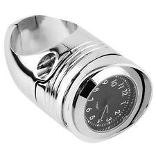 "Chrome 1 1/4"" Handlebar Mount Clamp Clock Fit For Harley Davidson Dyna Chopper"