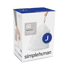 simplehuman Code J Custom Fit Liners Tall Kitchen Trashbags,30-45Liter 60 packs