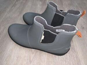 Sperry Top-Sider Gray/Black Rubber Waterproof Boots Men's 13