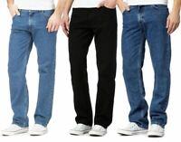 Denim Jeans Mens Straight Leg Regular Casual Pants Plain Denim Jeans