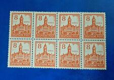 Germany Stamps SBZ Soviet Zone 8x 8 Pfennig 1946 Block Mi. Nr. 160 (16619)