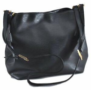 Auth Louis Vuitton Epi Mandara MM Shoulder Cross Body Bag Black M58892 LV C8798
