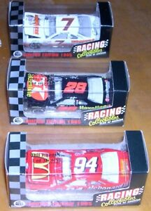 Racing Collectibles 1:64 Set of 3 1995 Ford Thunderbirds - #7 - #28  - #94