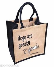 """""""los perros son excelentes"""" Yute Shopper de estas bolsas son ideales"""