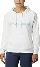 Columbia Logo French Terry Long-Sleeve Hoodie For Ladies White 2X Free Ship NWT