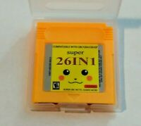 26 in 1 Gameboy Color GBC Multicart Pokemon Fan made games + More Read Game List