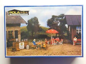 G Scale - POLA - #1765 Lowenbrau Beer Garden Set For Model Train Layout NIB!