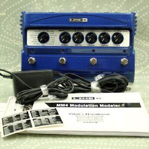 Line6 MM4 Modulation Modeler With AC Adapter Guitar Effect Pedal MDM0M5944000420