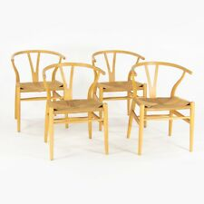 Set of Four Vintage Hans Wegner Carl Hansen Denmark Wishbone Dining Chair Beech