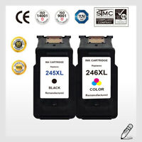 2pk PG-245XL Black & CL-246XL Color Ink Cartridge for Canon PIXMA MG2420 MG2522