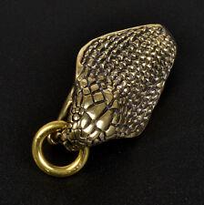 Men's Belt Clip Buckle Vintage Brass Cobra Gold Keychain Key Ring Holder Hook