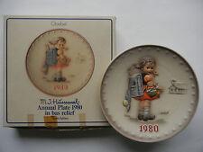 Goebel Year Plate 1980 - 1. School Gang Girls - Boxed (My Art no. 80-4)