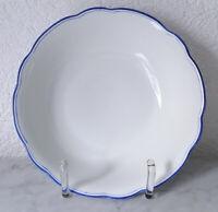 alte Schüssel Schale Salatschale grobes Porzellan blauer Rand weißer Spiegel
