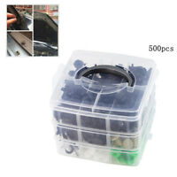 500 Pcs Mixed Type Retainer Clips For Car Door Panel Bumper Engine Cover Fender