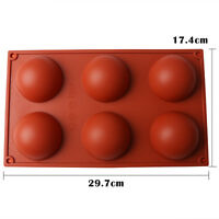 Big Half Ball Sphere Silicone Cake Mold Muffin Chocolate Cookie Baking Mould Pan