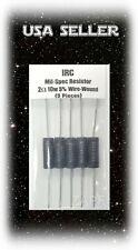 2 Ohm WireWound Resistor 10 Watt 5% IRC 10043391 -  (Lot Of 5) USA SELLER