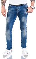 Rock Creek Diseñador Slim Fit Jeans de Hombre Básico Vaqueros Stretch