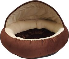 Covered Comfortable Brown Color Round Shape Dog Bed Fur Material High Stretch