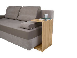 Sofa, bed side table in oak wotan colour, small and functional !