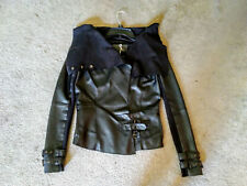 River Island Black Leather Jacket women's size 6