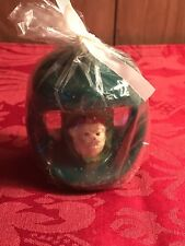 Vintage Christmas Candle ~ Noel one side & Santa the other side ~ NEW