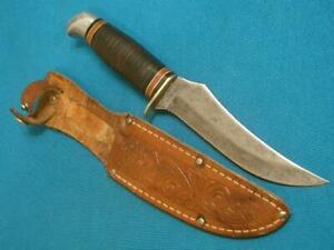 VINTAGE SCHRADE WALDEN NY USA 148 HUNTING SKINNING SURVIVAL BOWIE KNIFE KNIVES