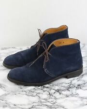 RUSSELL & BROMLEY JERMYN Mens Navy Suede Leather Desert Boots, Size UK 9 / EU 43