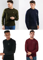 Luke Sport Mens Crew Round Neck Sweatshirt Jumper Sweater Top Tee M L XL 2XL 3XL