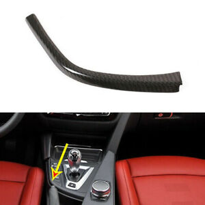 Carbon Fiber Gear Shift Panel L Shape Cover Frame Fit For BMW M3 M4 F80 14-18 ct