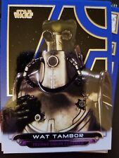 2017 Star Wars Galactic Files Reborn #AOTC-20 Wat Tambor BLUE