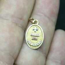 Pendentif médaille d'Amour Augis en or 18 K et rubis