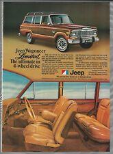 1979 JEEP WAGONEER advertisement, Jeep ad, Wagoneer Limited AMC