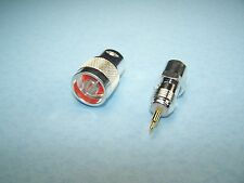 2 pcs N MALE SOLDER CONNECTOR SILVER PLATED TEFLON LMR-400 RG-8 11 213 214 393