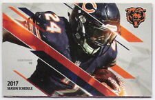 2017 CHICAGO BEARS NFL POCKET SCHEDULE - RB JORDAN HOWARD COVER - FREE SHIPPING!