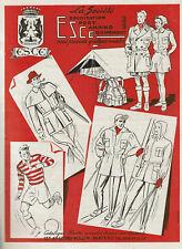 ANCIENNE PUBLICITE 1949  ESCE MATERIELS DE CAMPING VETEMENTS CHASSE    AD pub
