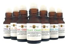 Crystal Chakra Essential Oils ROLLER BALL Roll On Pulse Point Aromatherapy Oil