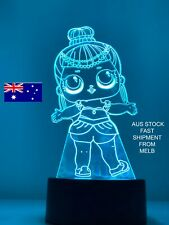 LOL SURPRISE DOLLS QUEEN 3D LED NIGHT LIGHT 7Color remote LAMP RARE NEW Girls