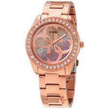 Guess G Twist Quartz Crystal Ladies Watch W1201L3
