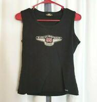 Vintage Harley Davidson 1998 Women's Sleeveless 95 Years Black Tank Top