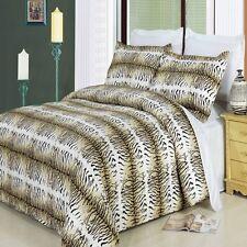 3pc Black/Cream/Mocha Animal Print 300TC Egyptian Cotton Duvet Set King Cal King
