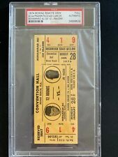1974 signed Ali vs. Frazier boxing ticket PSA certified