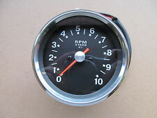 60-2396 1970-78 BSA TRIUMPH AJS 4:1 TACHOMETER REV COUNTER CLOCK - BLACK FACE