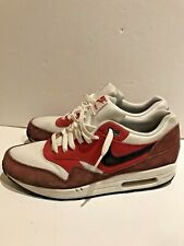 Nike Air Max Trainers Shoes Mens Leather Burgundy Suede Red UK 9
