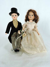 Antique Pair of Wedding Dolls, Bride and Groom Cake Topper Decoration