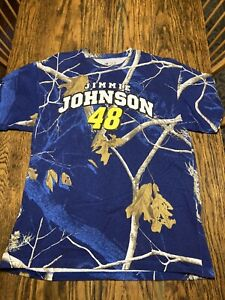 Jimmie Johnson Official NASCAR Short Sleeve T-shirt Realtree Adult Large NEW!