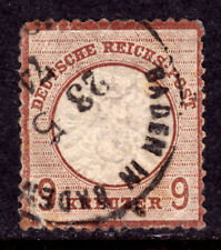 GERMANY #25a 9kr LILAC BROWN, 1872 EMBOSSED, F, USED